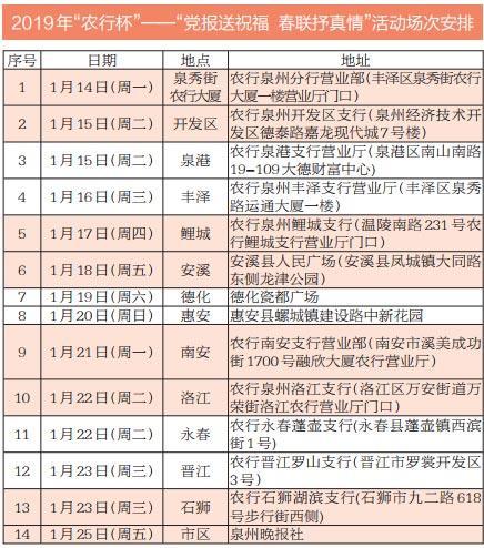 2019年党报送春联活动下周一启动