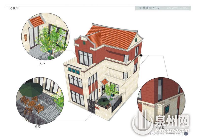 设计方案之一《一宅一庭院,一屋四居室(80平方米)》